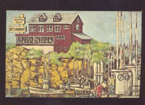 DEPOE BAY OREGON SPOUTING HORN RESTAURANT VINTAGE ADVERTISING POSTCARD