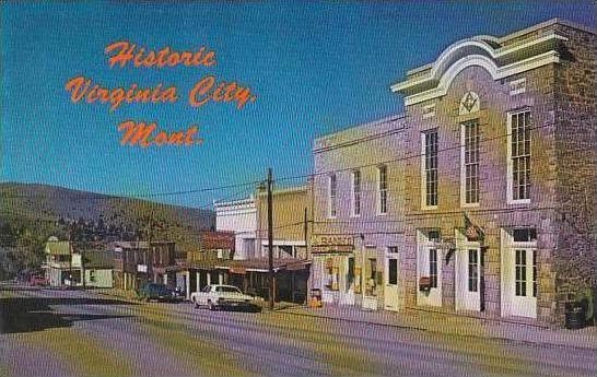 Montana Virginia City Main Street Scene