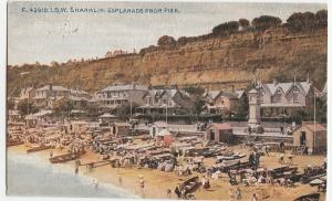 Shanklin Esplanade from Pier IOW Isle of Wight vintage Postcard c1910