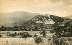NH - North Conway. Moat Mtn. & White Horse Ledge from Sunset Inn (Albertype p...