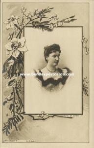 Queen Consort Draginja Draga Obrenović of Serbia (1900) RPPC Postcard