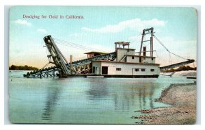 Postcard Dredging for Gold in California Y65