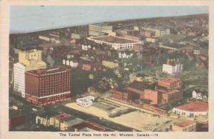 Aerial View of the Tunnel Plaza - Windsor, Ontario, Canada - pm 1947