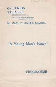 A Young Mans Fancy Lottie Venne Antique Theatre Programme
