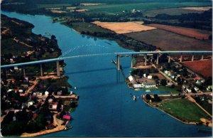 Vtg 1950s Chesapeake City Bridge Wilmington Delaware DE Unused Postcard