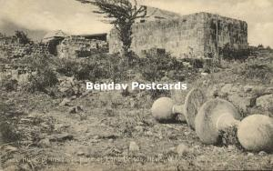 leeward islands, NEVIS W.I., Ruins Marriage Place Lord Nelson (1905) A.M. Losada