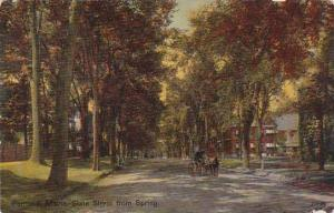 Maine Portland State Street From Spring 1913