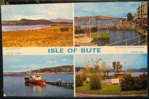 Scotland Isle of Bute Kilchattan Bay The Gay Queen etc - unposted marked