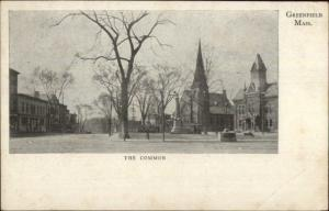 Greenfield MA The Common c1905 Postcard