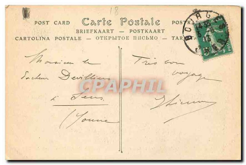 Old Postcard Bourges Cathedrale Saint Etienne Part Eardrum of the central doo...