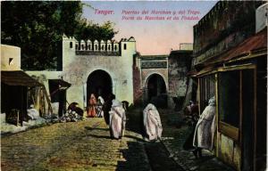 CPA Tanger Porte du Marchan et du Fondak MAROC (688263)