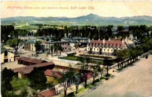 Salt Lake City, Utah - The Tithing Offices, Lion and Beehive Houses - c1910