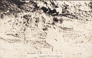 RP: KENTUCKY, 1910-1930´s; Hieroglyphics On Wall, Great Onyx Cave