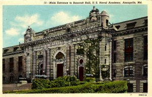 Annapolis, Maryland - Entrance to Bancroft Hall - U.S. Naval Academy - c1920