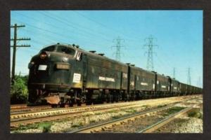 OH Penn Central Railroad Train CLEVELAND OHIO Postcard
