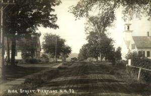 Piermont NH High Street c1915 Real Photo Postcard