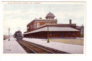 Train on Tracks, Canadian National Railway Station, Truro, Nova Scotia,