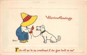 C15/ Valentine's Day Love Holiday Postcard 1913 Auburn New York Dog Fido 13