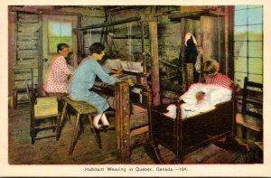 Canada Quebec Habitant Weaving