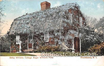 Betsy Williams Cottage Roger Williams Park Providence, RI Postcard Post Card ...