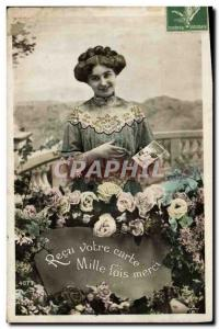 Old Postcard Postcards Woman