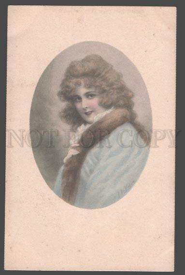 105686 Portrait BELLE Lady by WICHERA Vintage M.M.VIENNE 2240