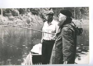 136621 Fishing SIMONOV Soviet POET Writer & KONEV old PC