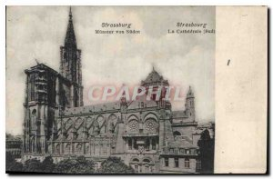 Postcard Old South Strasbourg Cathedral