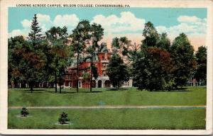 Chambersburg Pennsylvania~Wilson College Campus~2nd Empire Building~1920s PC