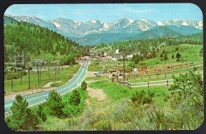 Colorado Approaching ESTES PARK Village on the Big Thompson Highway 1950s-1970s