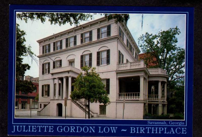 GA Juliette Gordon Low House Girl Scouts Founder Savannah Georgia Postcard PC