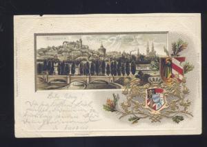 1900 NURNBERG GERMANY PANORAMA VON JOHANNIS ANTIQUE VINTAGE POSTCARD