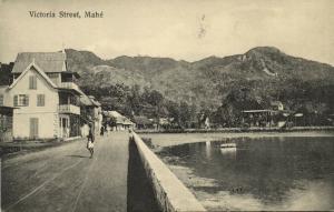 seychelles, MAHE, Victoria Street (1910s) Ohashi