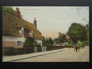 Essex HARLOW High St. / St. Johns Av Thatched Cottage c1910 Postcard by Geer's