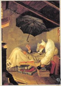 The Poor Poet Der Arme Poet (Ausschnitt) Carl Spitzweg