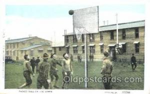 Basket ball in the camps Postcard Postcards  Military