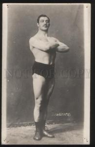 100266 WRESTLING Semi-nude wrestler Shwartz Vintage photo PC