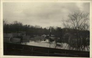 Northampton MA Flood 1920s-30s Real Photo Postcard #5