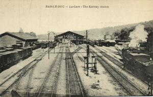 france, BAR-LE-DUC, La Gare, Railway Station, Steam Train (1920s)