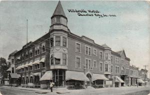 B78/ Charles City Iowa Ia Postcard 1910 Hildreth Hotel Building