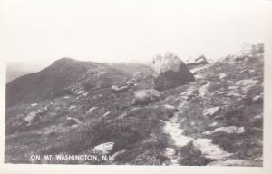 New Hampshire White Mountains Scene On Mt Washington Real Photo