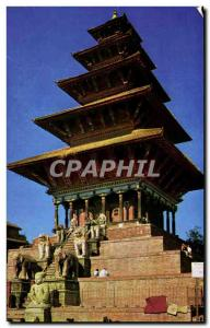 Postcard Modern Nyatapola Temple Bhaktapur