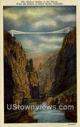 Royal Gorge, Colorado Post Card     ;     Royal Gorge, CO Royal Gorge CO Unused