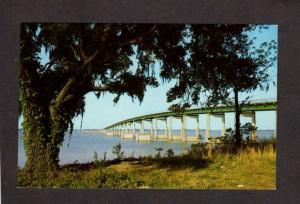 SC Hwy 301 15 Bridge over lake Marion Santee Summerton South Carolina Postcard