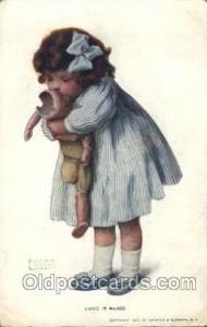 Artist Signed Bessie Pease Gutmann Postcard Postcards Love Is Blind Artist Be...
