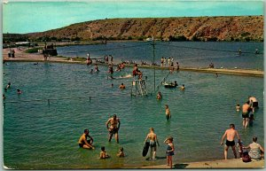 Roswell, New Mexico Postcard Swimming Pool - Bottomless Lakes State Park 1960s