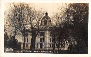 Brookings South Dakota Court House Real Photo Antique Postcard K98617