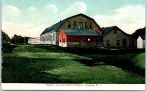 Ashaway, Rhode Island Postcard Ashaway Line & Twine Factory c1910s Unused