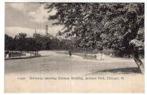 Chicago, Ill, Driveway showing German Building, Jackson Park