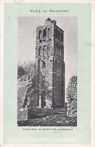 Tour des 40 Martyrs a RAMLEH , Palestine , 00-10s ; Ad for CHOCOLATERIE D´AI...